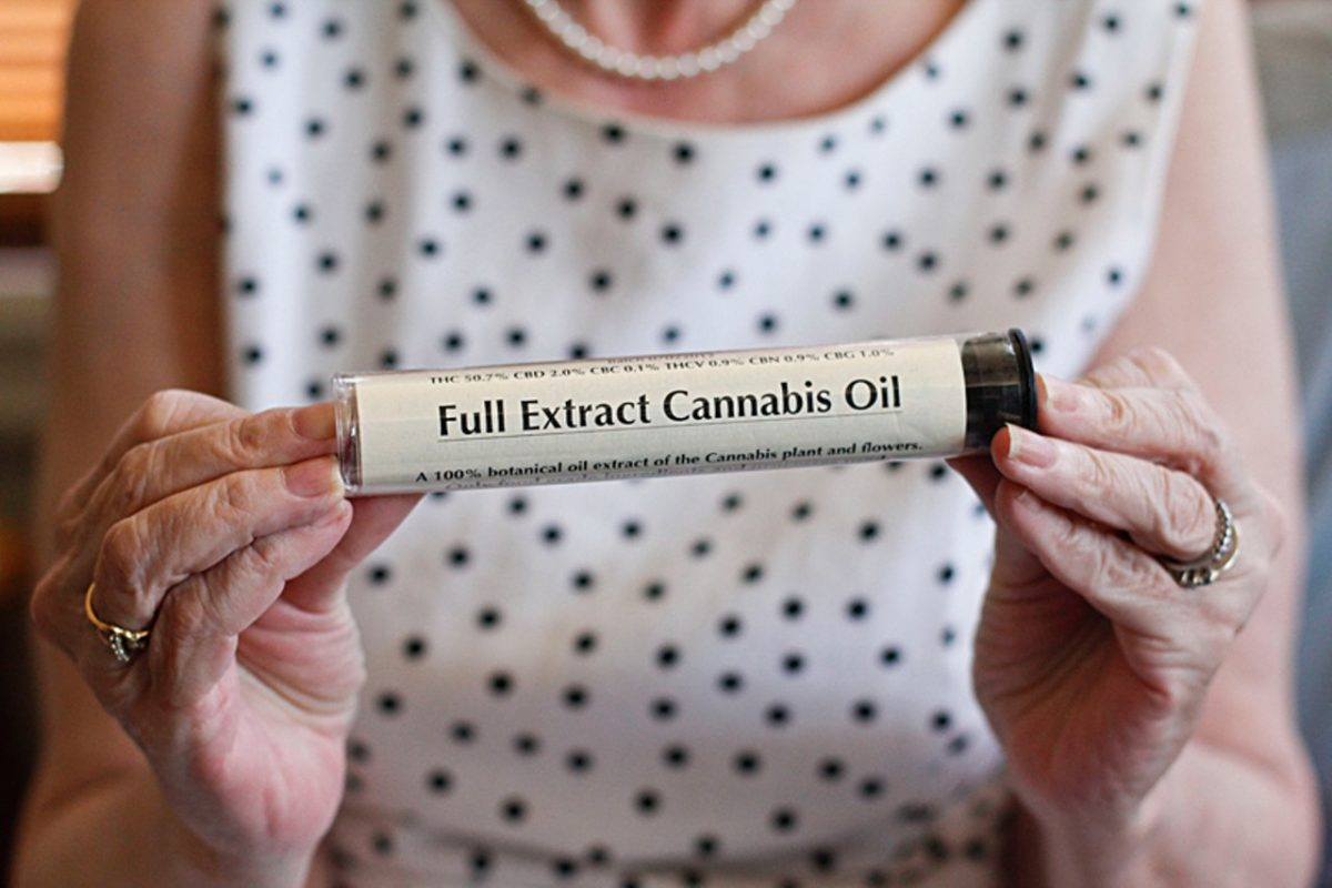 """ANNA LATINO – Michelle Aldrich says her life was saved by cannabis oil, which she credits for her swift recovery from lung cancer. """"I always knew it was medicine,"""" the lifelong marijuana advocate says, """"and now I've proved it. I'm living proof."""""""