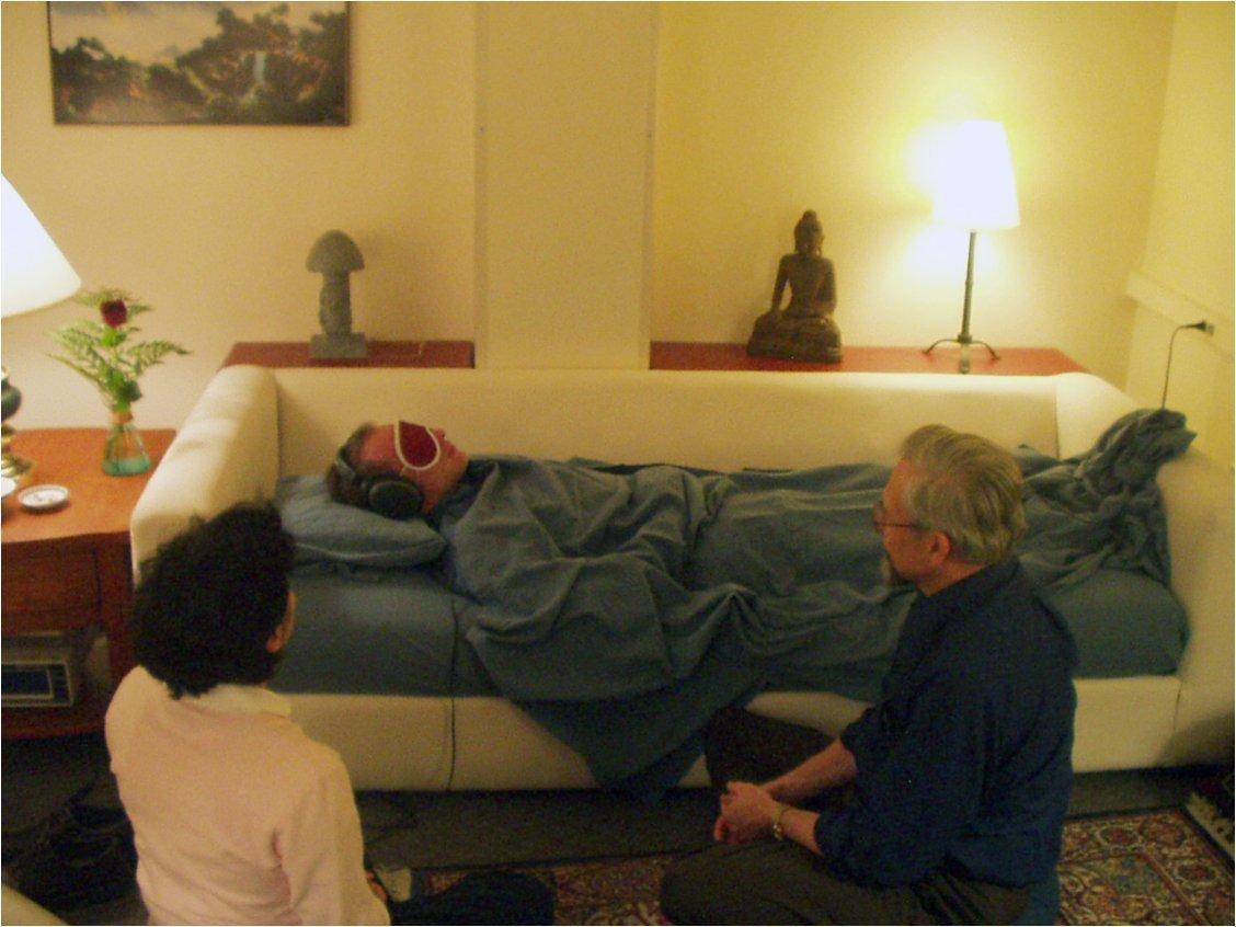 The psilocybin study treatment room at Johns Hopkins University