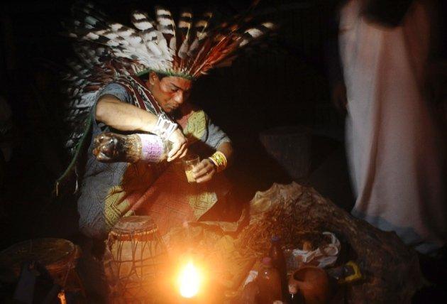 Ayahuasca being prepared for a healing ritual in the Brazilian village of Novo Segredo. (Lunae Parracho/Reuters/Corbis)