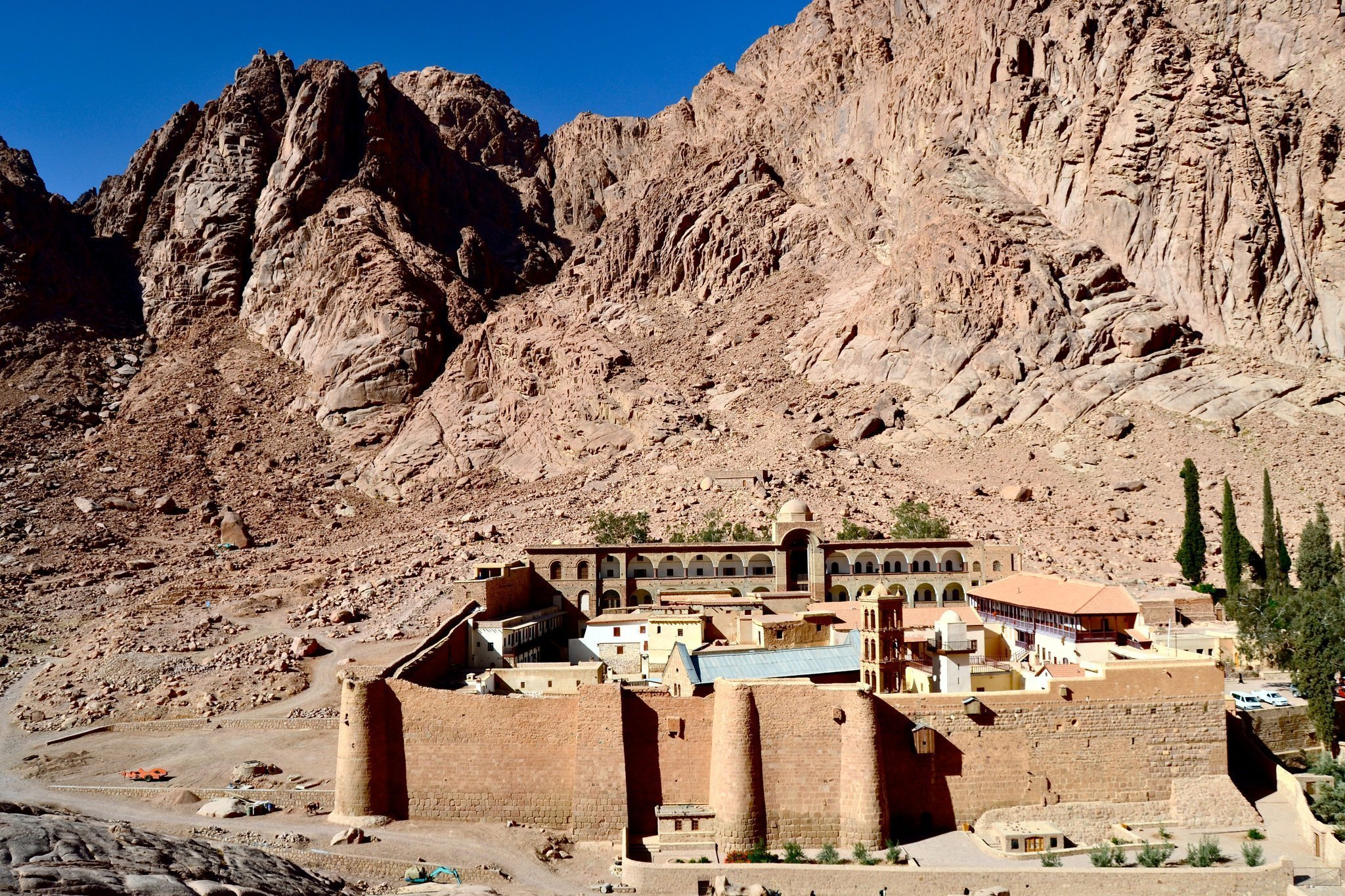 One leaf of the Syriac Galen Palimpsest remains at St. Catherine's in the Sinai Desert in Egypt, which has the world's oldest continuously operating library.MARK SCHROPE