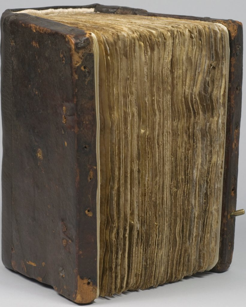 The bound Syriac Galen Palimpsest. COURTESY OF THE OWNER
